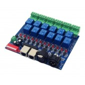12CH Relay Switch DMX512 Controller RJ45 XLR Output Control 12 Way