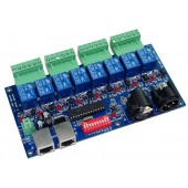 8CH DMX 512 LED Controller Decoder Dimmer RELAY OUTPUT WS-DMX-RELAY-8CH