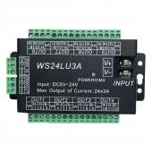 WS24LU3A 24CH DMX Controller DMX512 Decoder RGB Dump Node 24x3A
