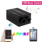 NEW Bluetooth APP Control Fiber Optic Light Engine Twinkle Effect 12W Musical Jump Ceiling Star Light Device