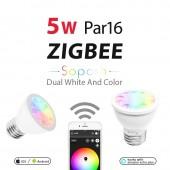 5W Par16 E27 Bulb Zigbee Smart Home Rgb+Cct Spotlight Amazon APP Control