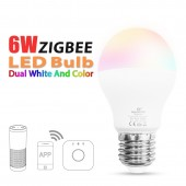 6W RGB+CCT Led Bulb Zigbee ZLL Smart E27 AC100-240V Light Spotlight Lamp