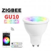 Smart Home Rgb+Warm White Gu10 Spotlight Zigbee 5W RGBW Bulb AC100-240V