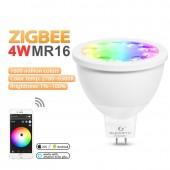 ZIGBEE LED MR16 4W RGB+CCT Spotlight 12V Bulb Zigbee 3.0 Gateway
