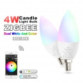 Zigbee Led Smart Bulb 4W E12/E14 Dimmable RGB+CCT Ambiance Decorative Candle Spotlight