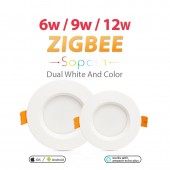 ZIGBEE Smart 6W/9W/12W LED Downlight RGB CCT Lamp Panel Light