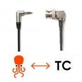 NEUTRIK 3.5mm Mini TRS Jack TENTACLE To Elbow BNC Timecode Cable For Canon C300 / C500, Sony PDW 700 / EX3 / PMW 200, ARRI Amira