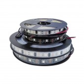 WS2801 Dream Color LED Strip DC5V 2801 IC 5050 RGB Individually Addressable Tape light 5m 32leds/m 12mm PCB