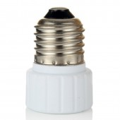 10pcs E27 to GU10 Lamp Base Conversion Socket Resistance PC E27 Socket