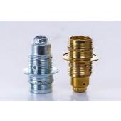 Metal E14 Chandelier E27 Medium Screw Silver Golden Optional 250V4A LED Lamp Base Holder Light Socket