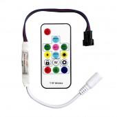 2 Pcs SP103E Mini Digital Controller 14 Keys RF Remote 2048 Pixels For DC5V DC12V WS2801 WS2811 WS2812 SK6812 Pixel LED Strip