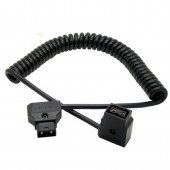 D-TAP 2 Pin Male to Female Extension Coiled Cable For DSLR Rig Anton Battery