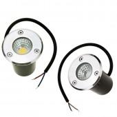 AC85-265V 12V/24V LED Buried Lamps Underground Lights 3W 5W Recessed Floor Outdoor Lamp COB Garden Lighting Yard Red Green Blue