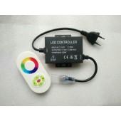 110V 220V 1500W RGB Controller LED Dimmer 5Key RF Touch Remote Control EU Plug / US Plug