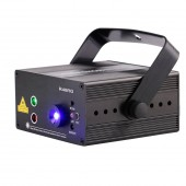 RGB Mini 3 Lens 48 Patterns Mixing Laser Projector Effect Stage Remote 3W Blue LED Light Show DJ Disco Party Lighting