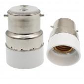10pcs B22 to E14 Lamp Base Conversion Socket Resistance PC B22 Socket
