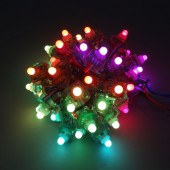 1000pcs 12mm Square Diffused Digital RGB LED Pixels String WS2811 IP68 DC5V