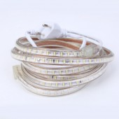 220V SMD3014 LED Strip Light 120Leds/m Flexible Lamp Ribbon Waterproof With Switch EU Plug Home Decoration