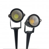 3W5W LED Landscape Lights 12V Waterproof Garden Pathway Lights Walls Trees Flags Outdoor Spotlights With Spike Lawn Lamps