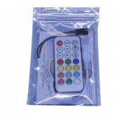 WS2811/WS2812B/SK6812/UCS1903/WS2801 RF Controller 5v/12v/24v 14Keys 21Keys LED Remote For RGB LED Pixels Modules Strip