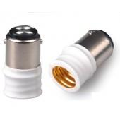 10pcs BA15D to E14 Lamp Base Conversion Socket Resistance PC BA15D Socket