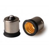 10pcs BA15S to E12  Lamp Base Conversion Socket Resistance PC BA15S Socket