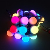 20pcs /Lot DC12V WS2811 30mm Diffused LED Pixel Module Full Color 3 LEDs 5050 RGB Led Lamp String D30 Modules Waterproof IP68
