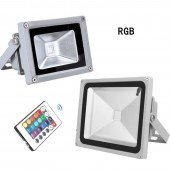 RGB 10W 20W 30W LED Flood Light DC24V AC 110V 220V LED Outdoor Lighting Reflector Spot Floodlight With Remote Control
