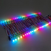50pcs 12mm WS2811 Full Color LED Pixel Light Module DC 5V Input IP68 Waterproof RGB Color 2811 IC Digital LED Christmas Light