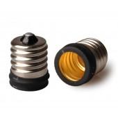 10pcs E17 to E14 Lamp Base Conversion Socket Resistance PC E17 Socket