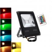 RGB LED Floodlight AC85-265v 10 W 20W 30W Flood Lights Waterproof For Garden Landscape Park Lighting With Remote Controller