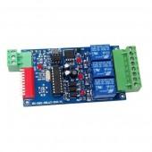 3CH Relay Controller DMX 512 Decoder RGB 5-24V WS-DMX-RELAY-3CH-BAN