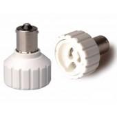 10pcs BA15S to GU10 Lamp Base Conversion Socket Resistance PC BA15S Socket