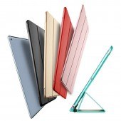 For iPad 2018 Case 9.7 Light PU Leather + Transparent PC Hard Back Smart Cover for ipad 2018 case 9.7 2017 Case A1893 A1954