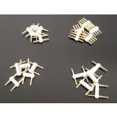 10pcs 110V 220V LED Strip 2 pin for SMD3528 3014 5050 5630 2835 LED Strip Accessory RGB 4 pin