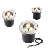 Waterproof 1W3W5W RGB LED Underground Light Ground Garden Path Floor Lamp Outdoor Underground Buried Yard Lamp Landscape Light