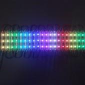 Free Shipping 20pcs/lot T7515 DC12V 3leds 5050 RGB WS2811IC Individually Addressable Full Color Waterproof IP68 LED Module Light