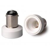 10pcs BA15D to E12 Lamp Base Conversion Socket Resistance PC BA15D Socket