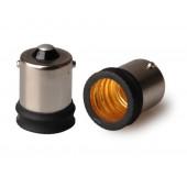 10pcs BA15S to E14  Lamp Base Conversion Socket Resistance PC BA15S Socket