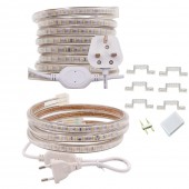 LED Strip AC 220V 240V IP67 Waterproof 3014 SMD 120leds/m Commercial Rope Light