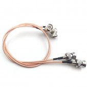 BNC plug to BNC plugs elbow Camera SDI Video line. Camera RF coaxial cable, Cable length 50cm