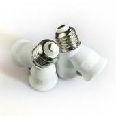 5pcs B22 to 2E27, E27 to 2E27 Lamp Base Conversion Socket Resistance PC B22 or E27 Socket