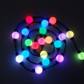 100pcs DC12V/DC24V 35mm/50mm 360 Degree Emitting Magic Ball LED Pixel Module Double Side 5050 RGB + WS2811 IC Christmas Lighting