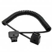 Coiled D-TAP DTAP Cable For DSLR Rig Anton Battery Cable,D-tap Male-Female Cable