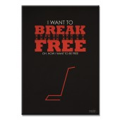 I Want To Break Free Modern Canvas Print Motivational Words for Life Giclee Print on Canvas 16 x 24 Inch