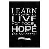 Learn Live Hope Modern Canvas Print Motivational Words for Life Giclee Print on Canvas 16 x 24 Inch