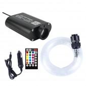 12V Car LED Fiber Optic Light Bluetooth APP Smart Control Music Control Starry Sky Effect Light kit 3m 295pcs Mixed Cable