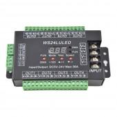 24CH DMX512 Controller Decoder WS24LULED 24 Channel 8Groups