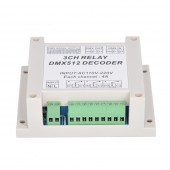 3CH DMX512 Relay Controller 3CH RELAY OUTPUT Relay Decoder WS-DMX-RELAY-3CH-220