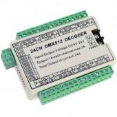 24CH Controller RGB LED DMX 512 Decoder Dump Node WS-DMX-24CH